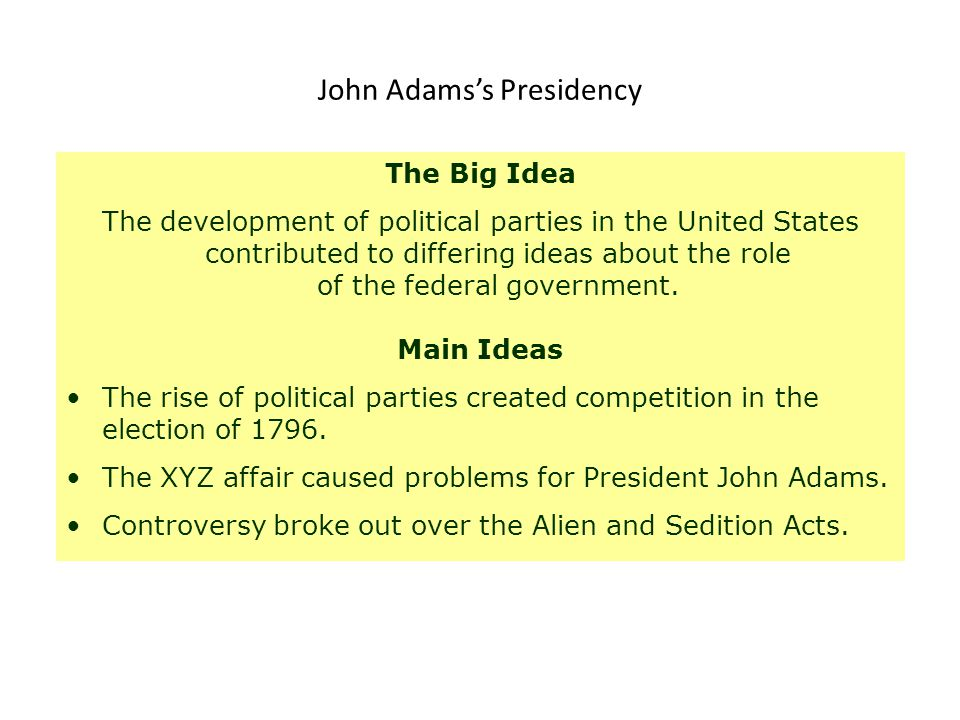 John Adams's Presidency