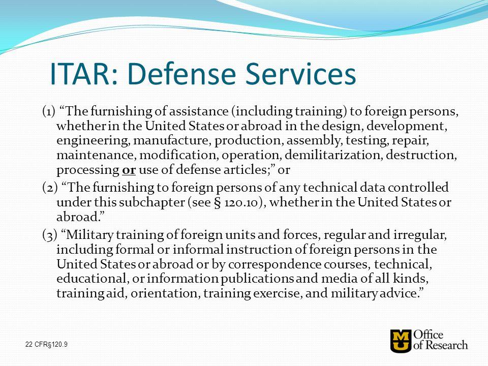 ITAR: Defense Services