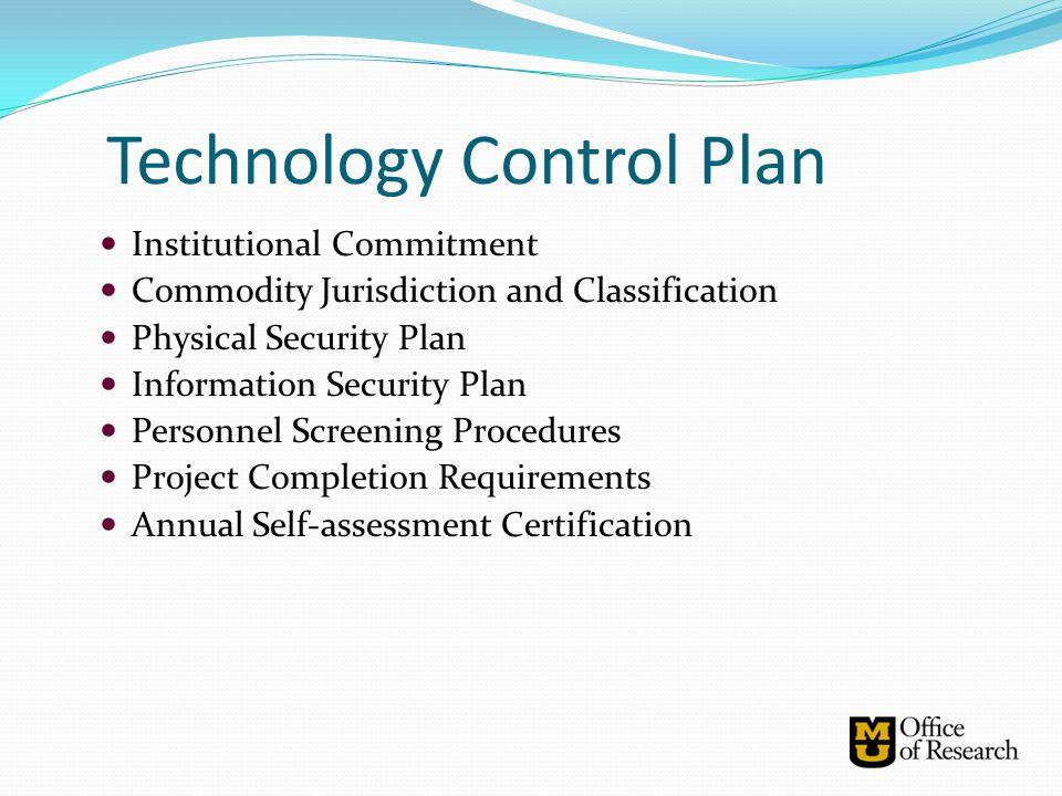 Technology Control Plan