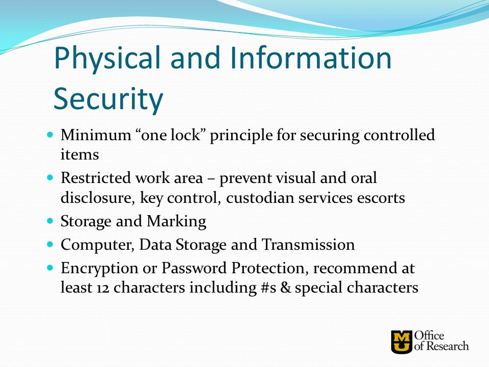 Physical and Information Security