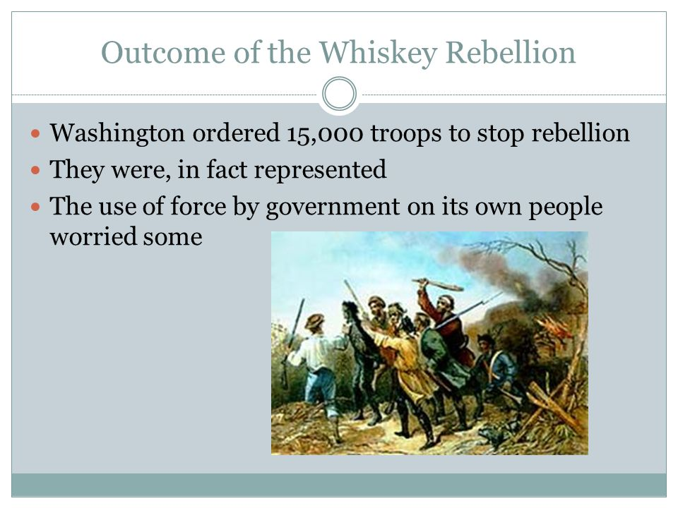 Outcome of the Whiskey Rebellion