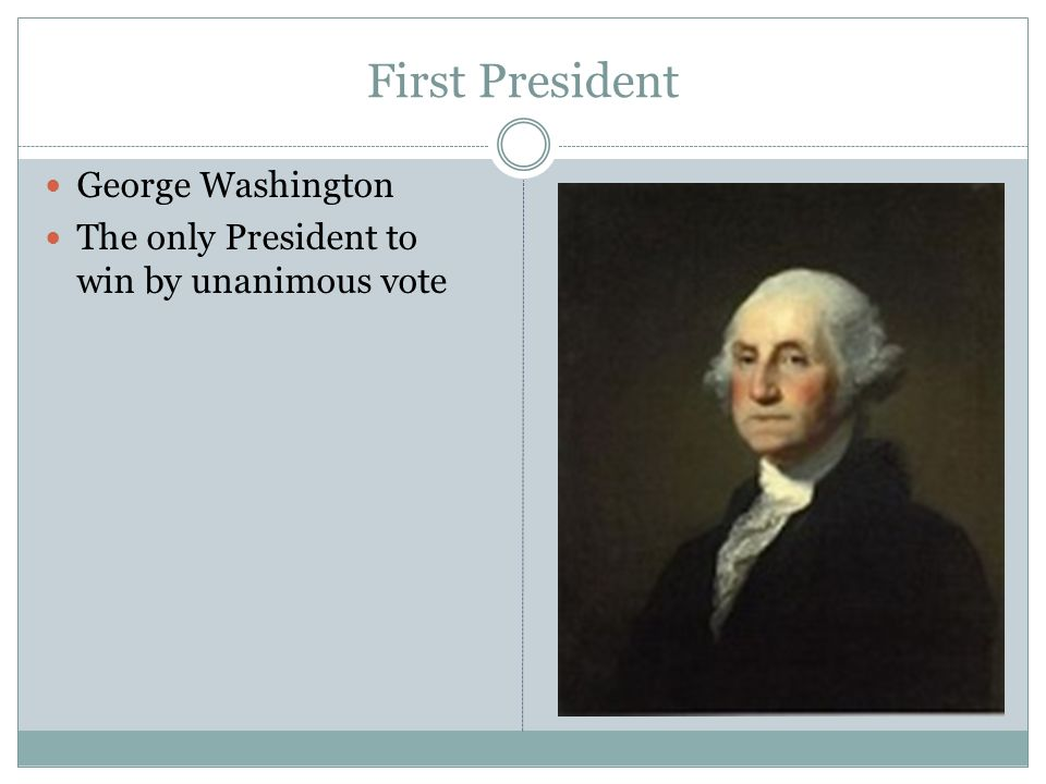First President George Washington