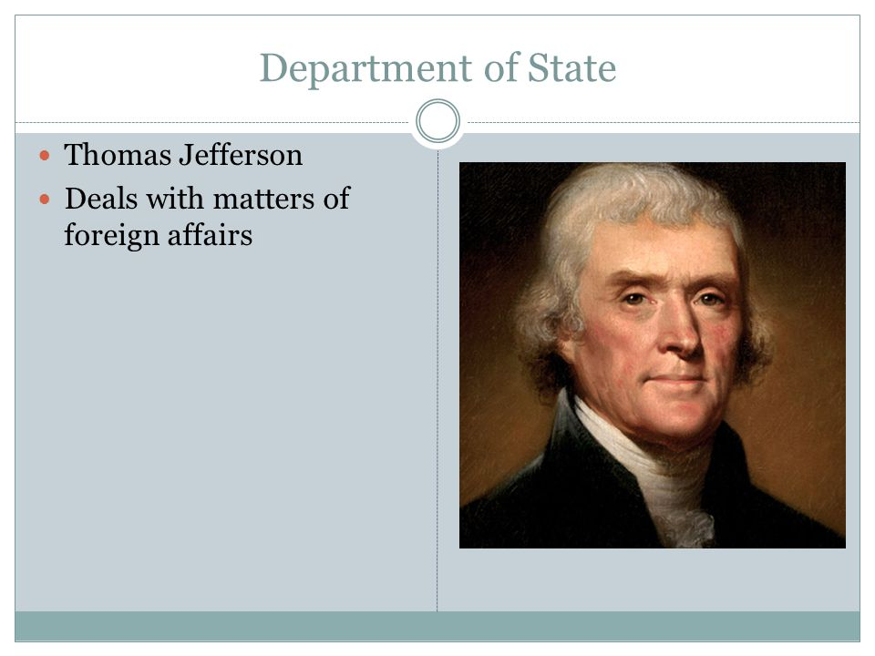 Department of State Thomas Jefferson
