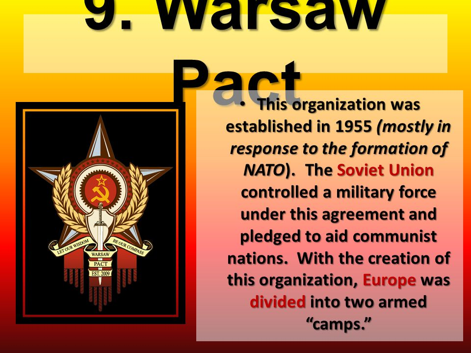 9. Warsaw Pact