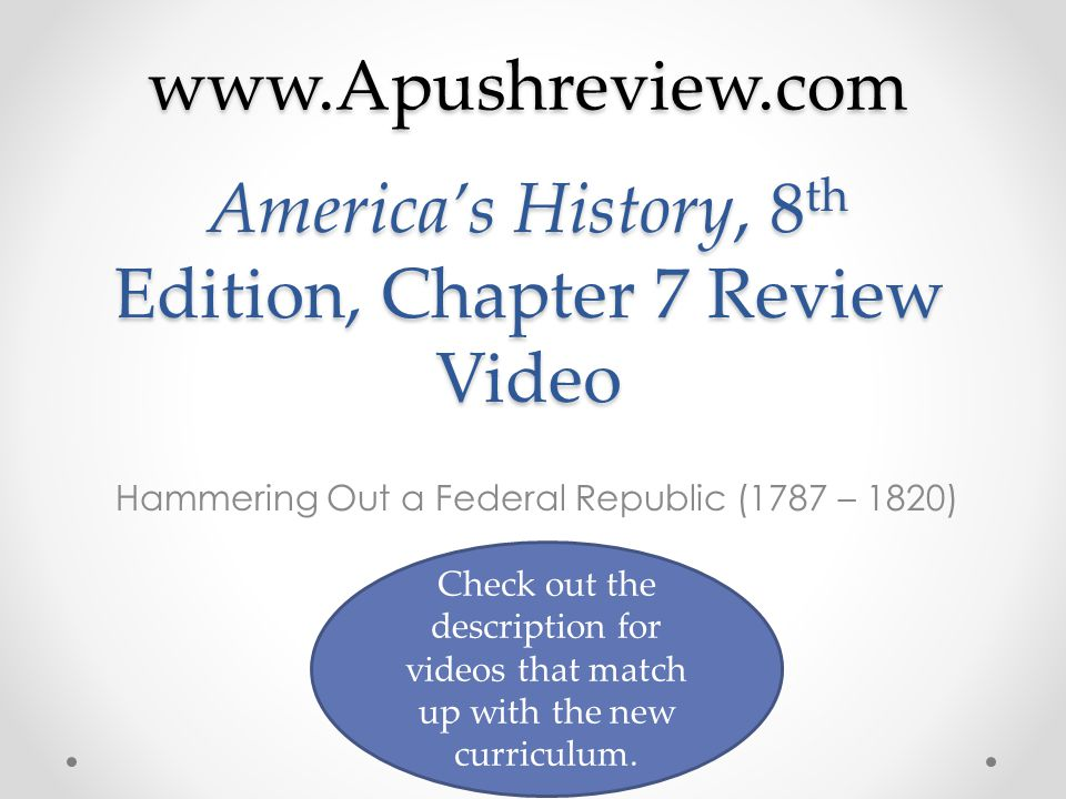 America's History, 8th Edition, Chapter 7 Review Video