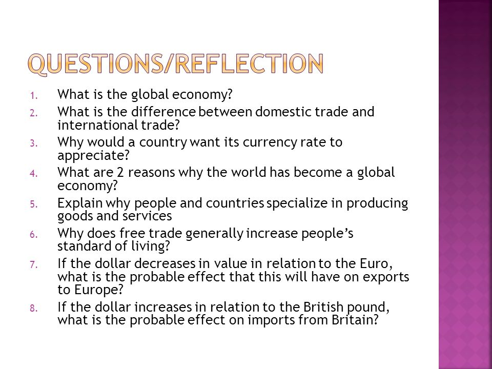 Questions/Reflection
