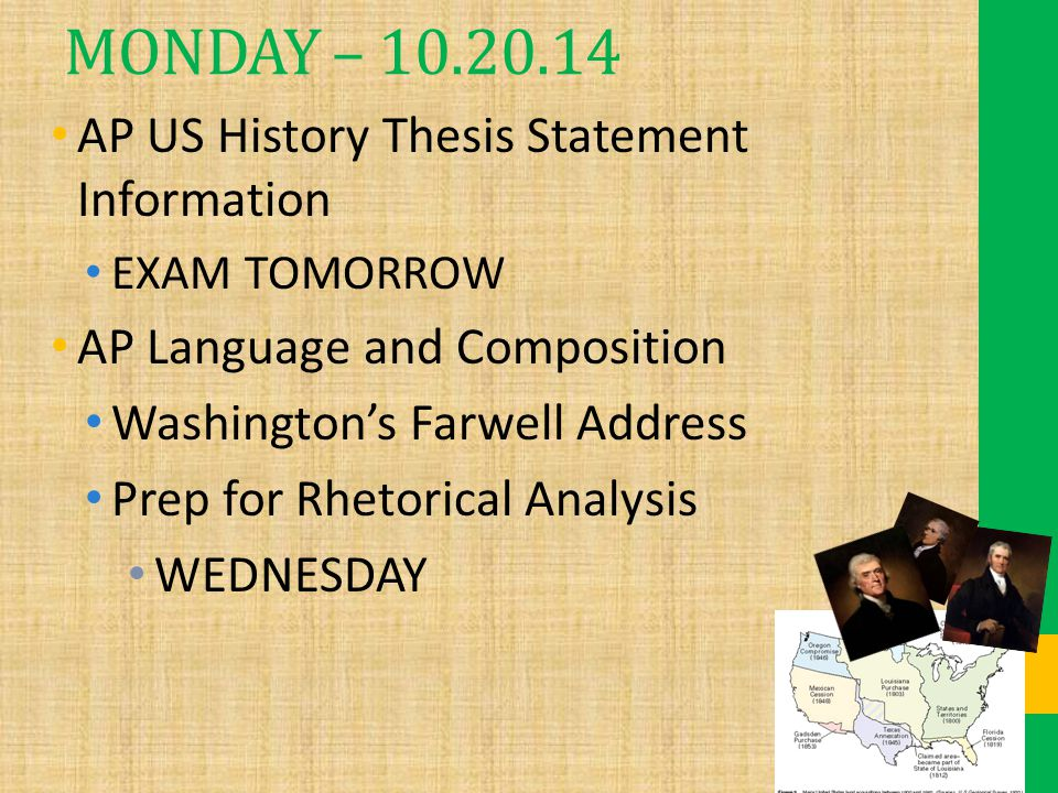College us histpry to present essay