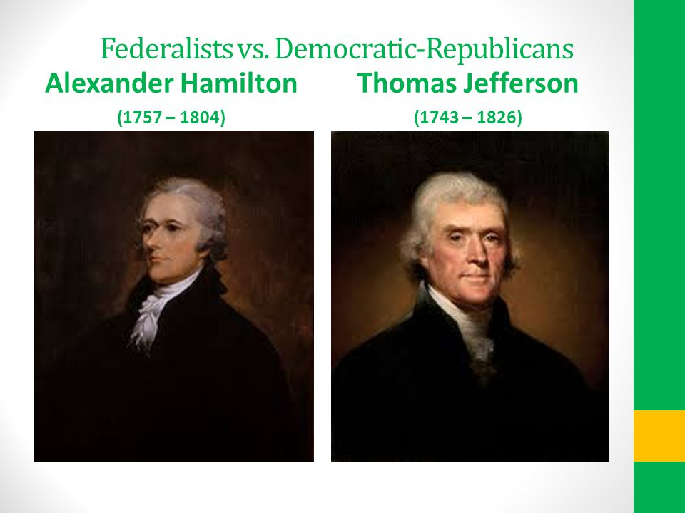 Federalists vs. Democratic-Republicans