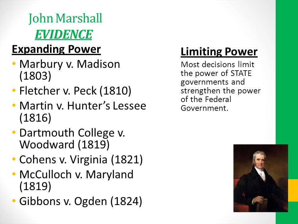 John Marshall EVIDENCE