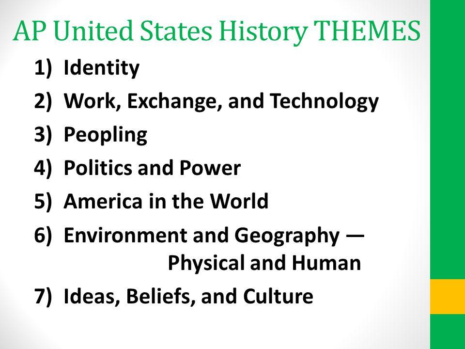 AP United States History THEMES