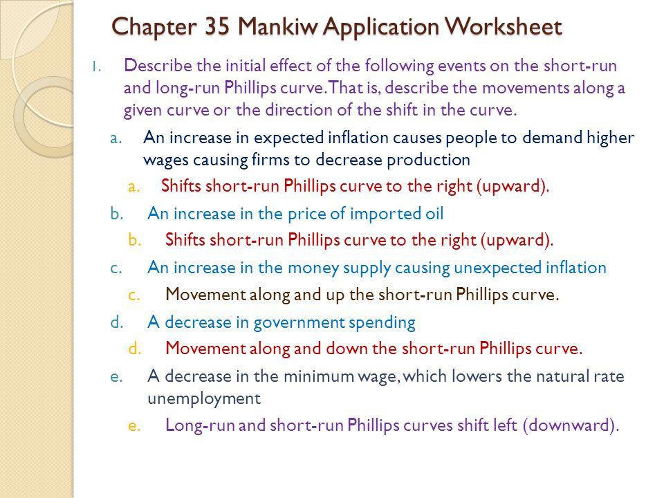 Chapter 35 Mankiw Application Worksheet
