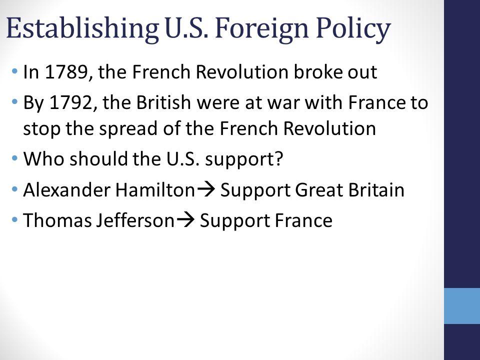 Establishing U.S. Foreign Policy