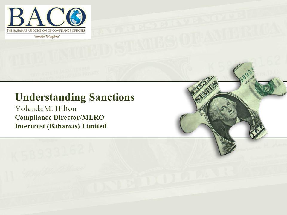 Understanding Sanctions Yolanda M