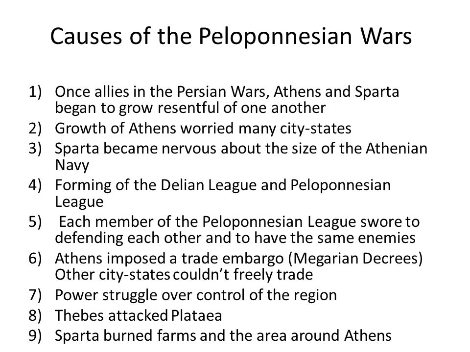 Causes of the Peloponnesian Wars