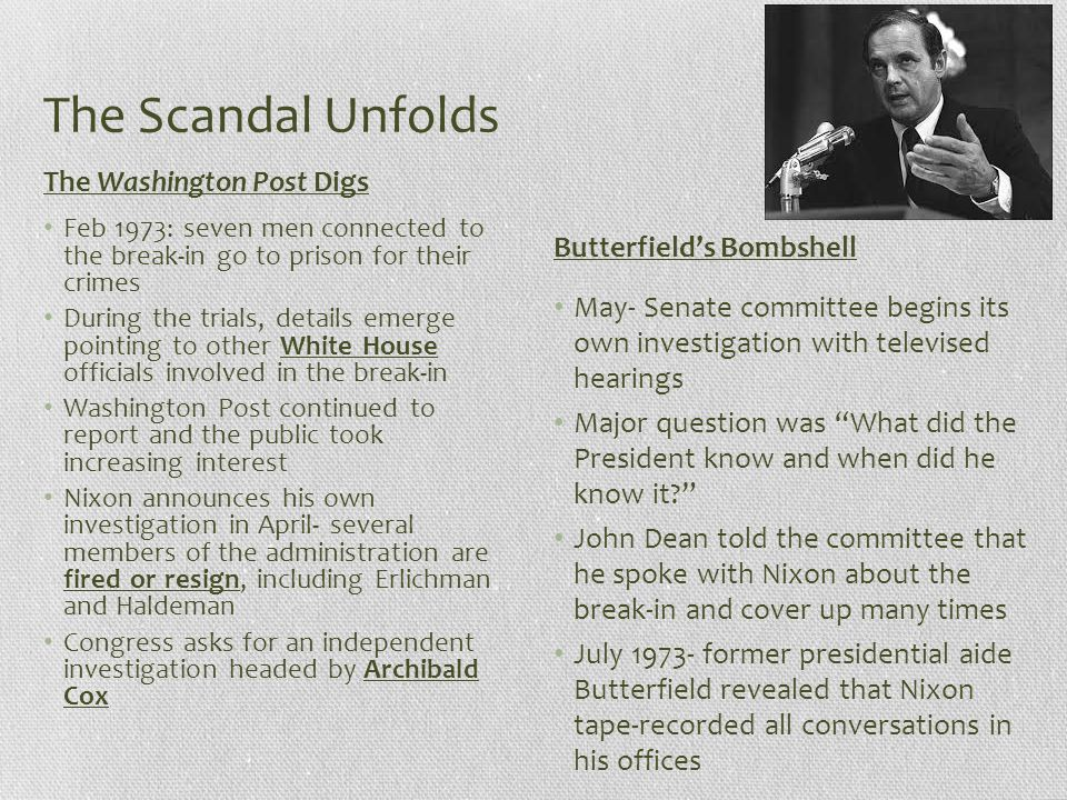 The Scandal Unfolds The Washington Post Digs Butterfield's Bombshell