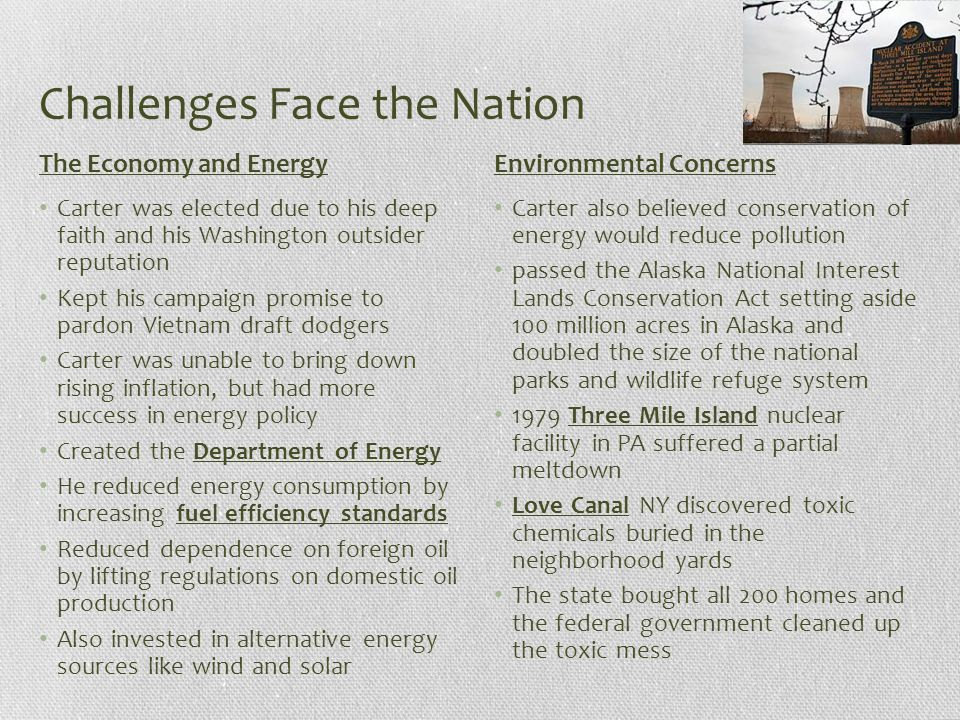 Challenges Face the Nation