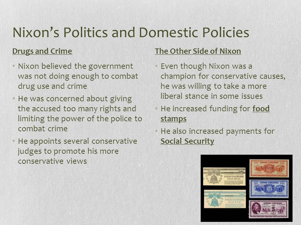 Nixon's Politics and Domestic Policies