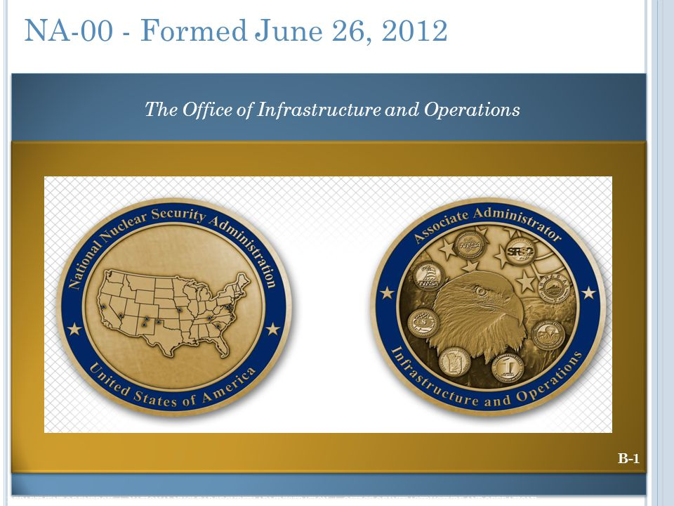 The Office of Infrastructure and Operations