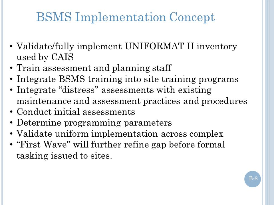 BSMS Implementation Concept