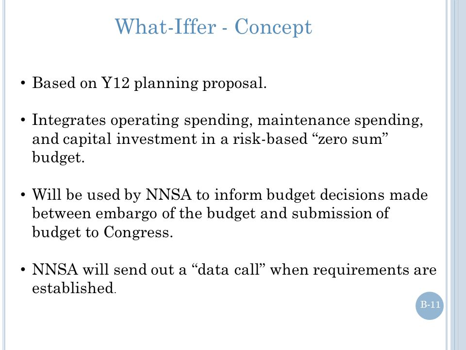 What-Iffer - Concept Based on Y12 planning proposal.