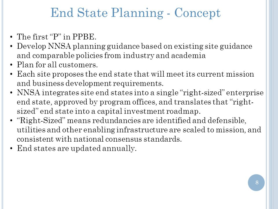 End State Planning - Concept