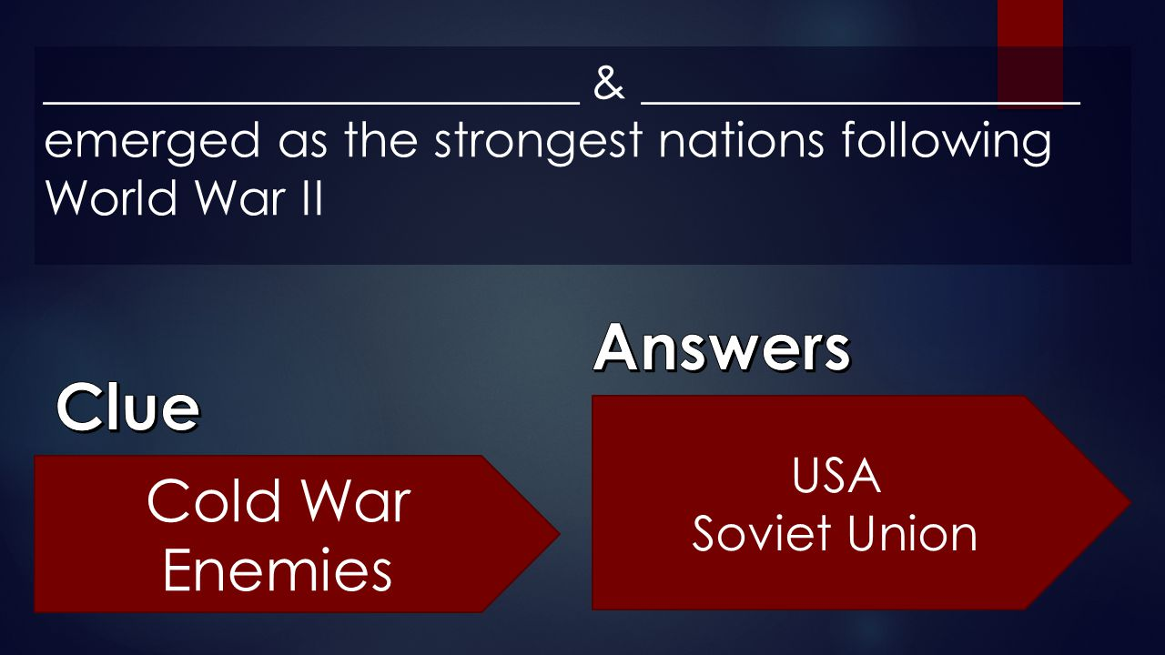 Answers Clue Cold War Enemies