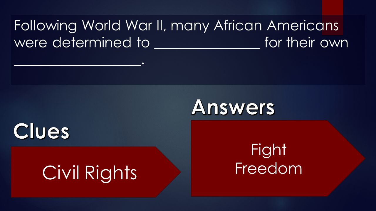 Answers Clues Civil Rights Fight Freedom