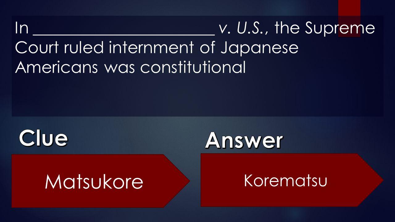 In ______________________ v. U. S