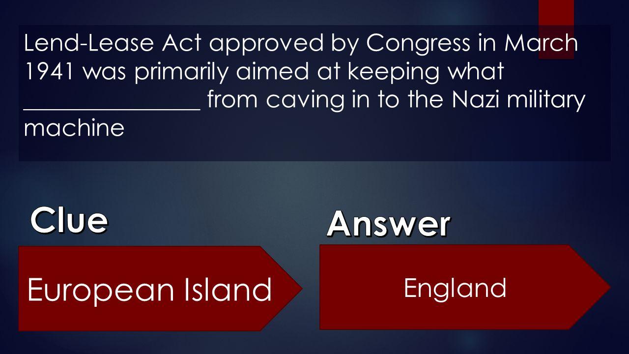 Clue Answer European Island England