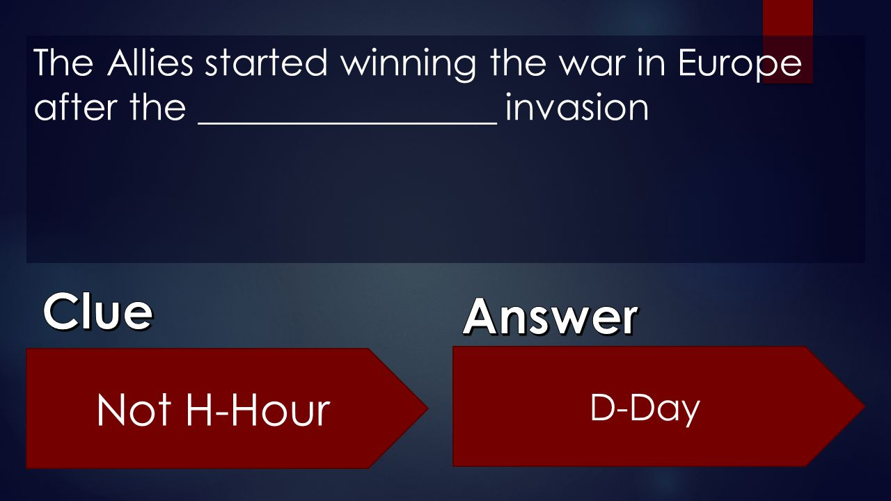 The Allies started winning the war in Europe after the ________________ invasion