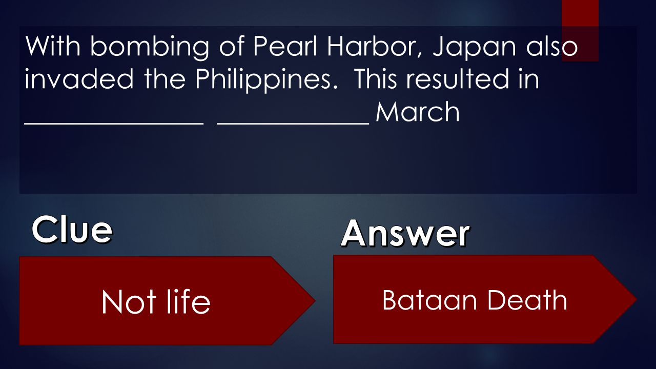 With bombing of Pearl Harbor, Japan also invaded the Philippines