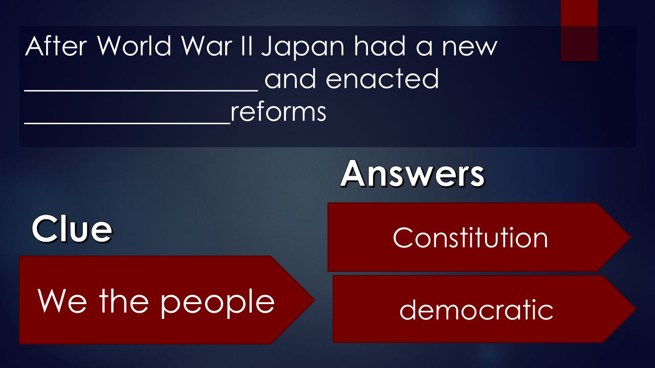 Answers Clue We the people