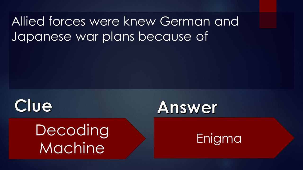 Allied forces were knew German and Japanese war plans because of