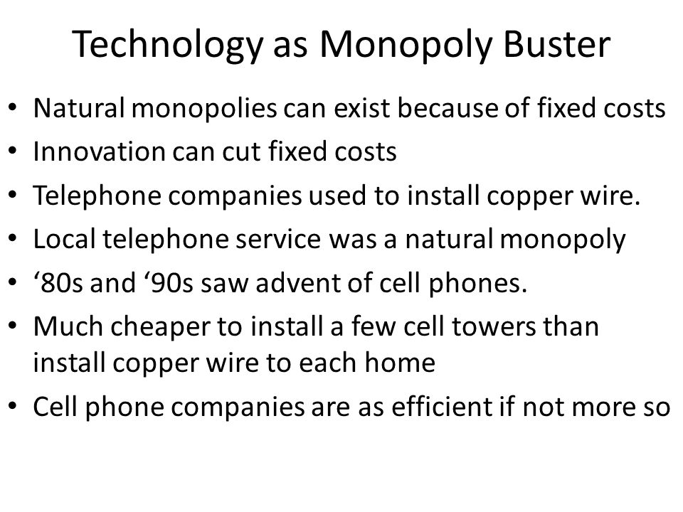 Technology as Monopoly Buster