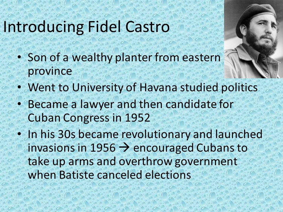 Introducing Fidel Castro