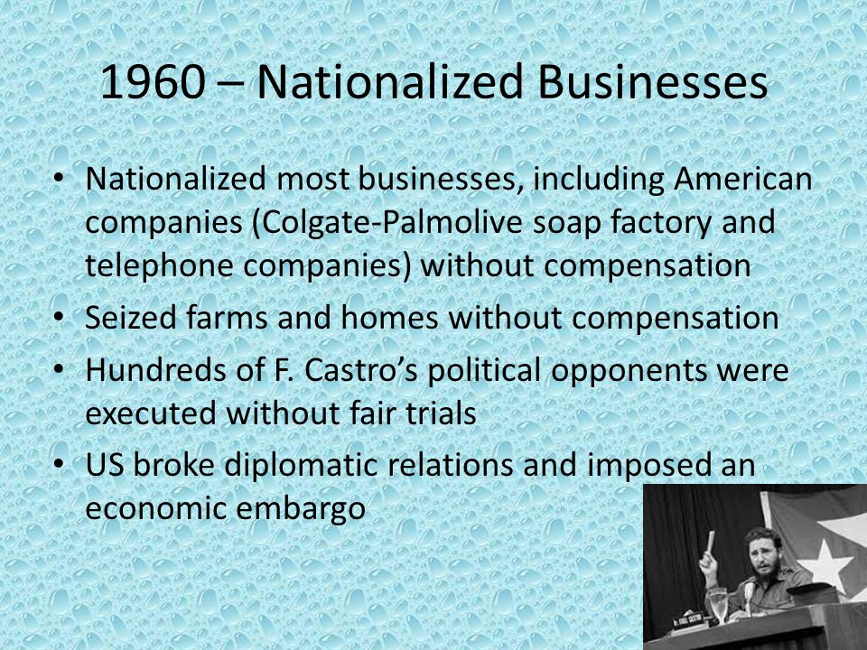 1960 – Nationalized Businesses