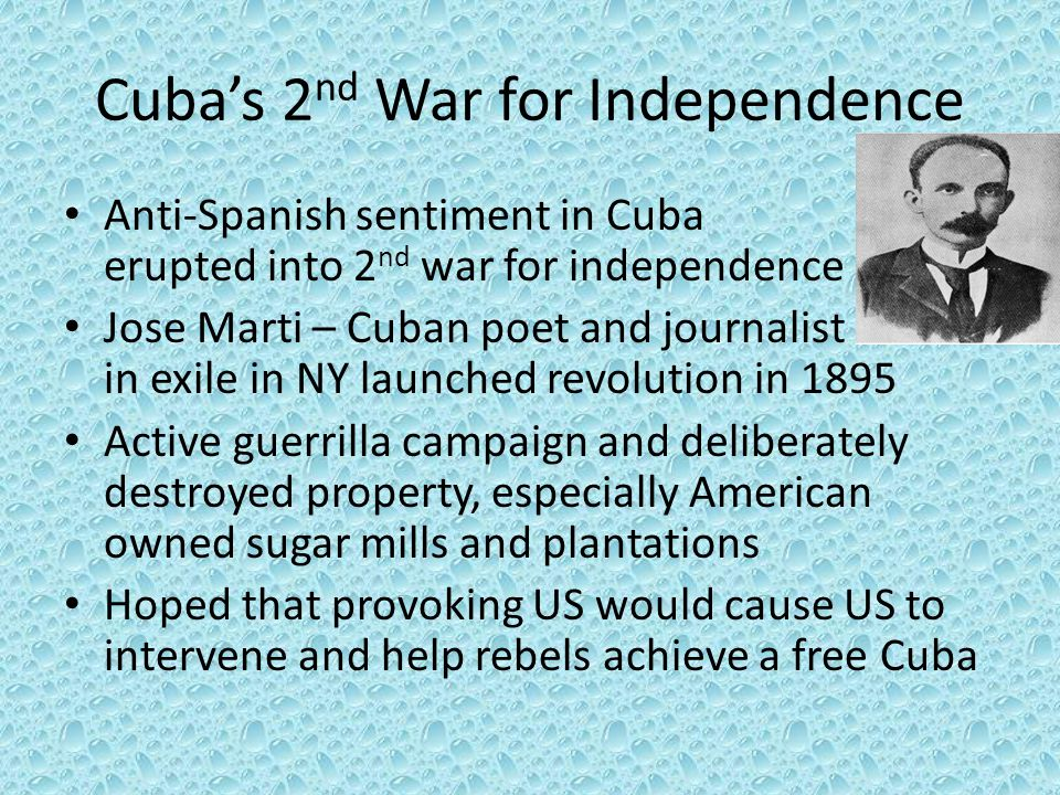 Cuba's 2nd War for Independence