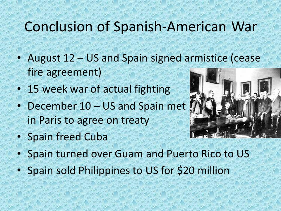 Conclusion of Spanish-American War