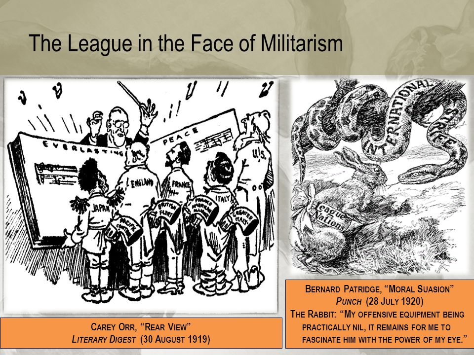 The League in the Face of Militarism