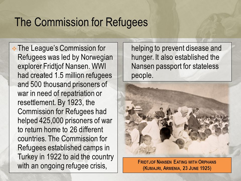 The Commission for Refugees