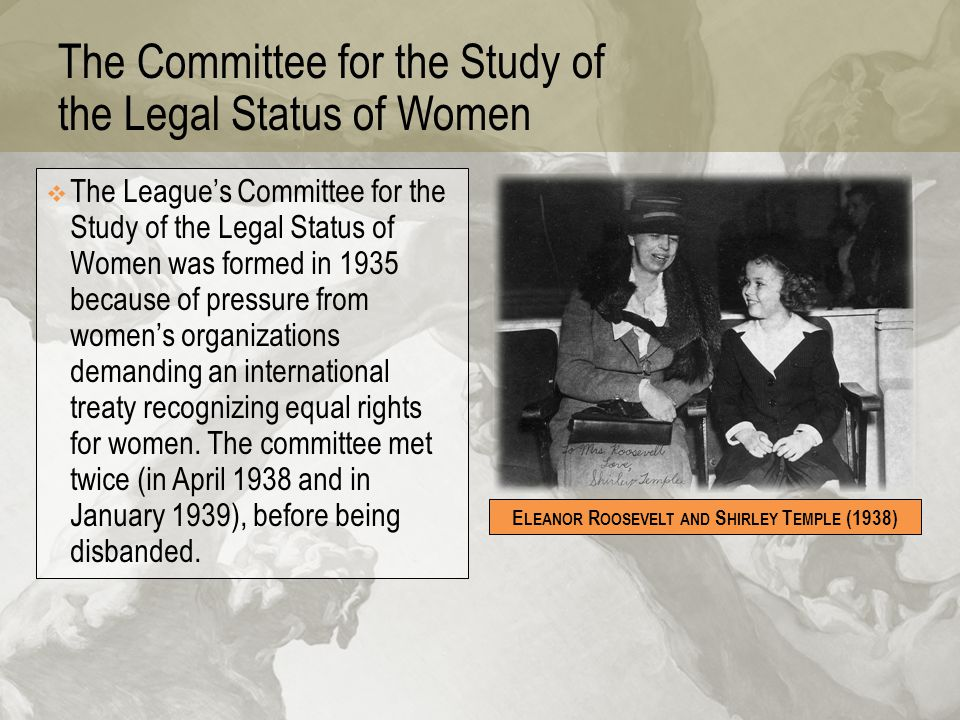 The Committee for the Study of the Legal Status of Women