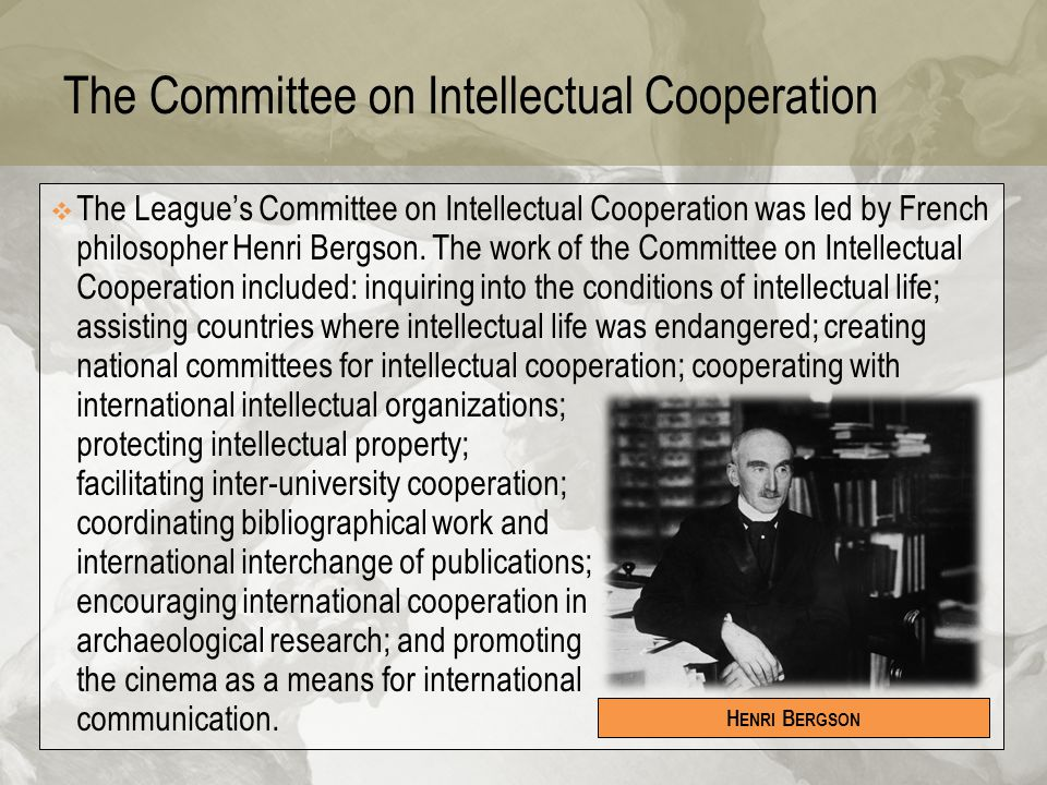 The Committee on Intellectual Cooperation