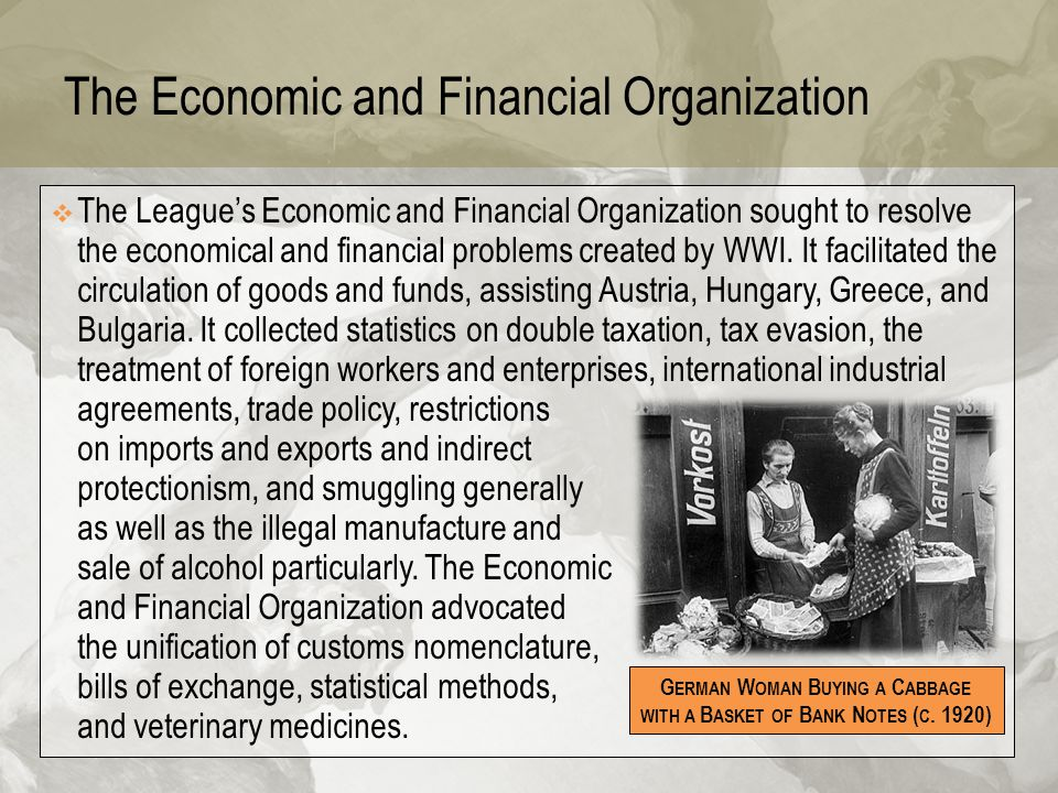 The Economic and Financial Organization