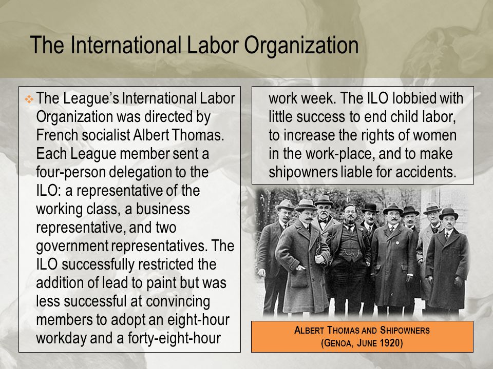 The International Labor Organization