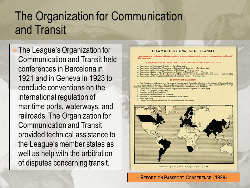 The Organization for Communication and Transit