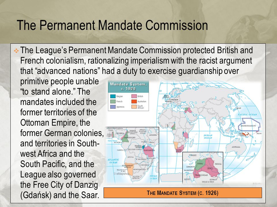 The Permanent Mandate Commission