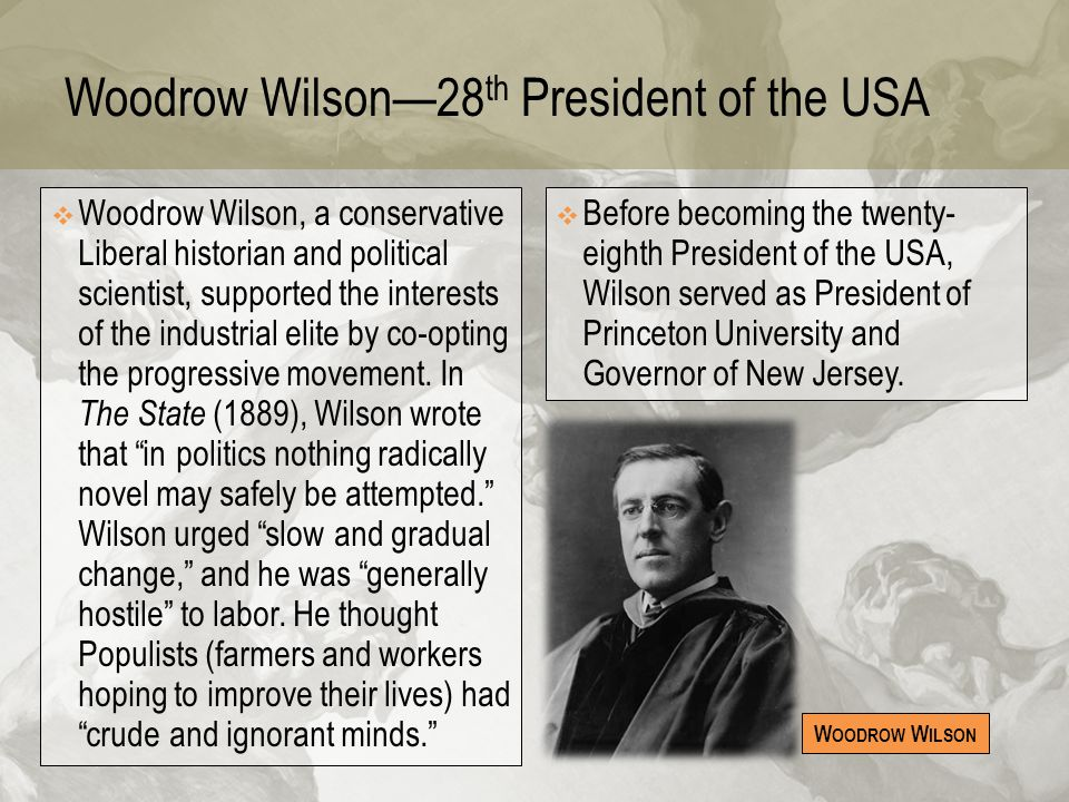 Woodrow Wilson—28th President of the USA