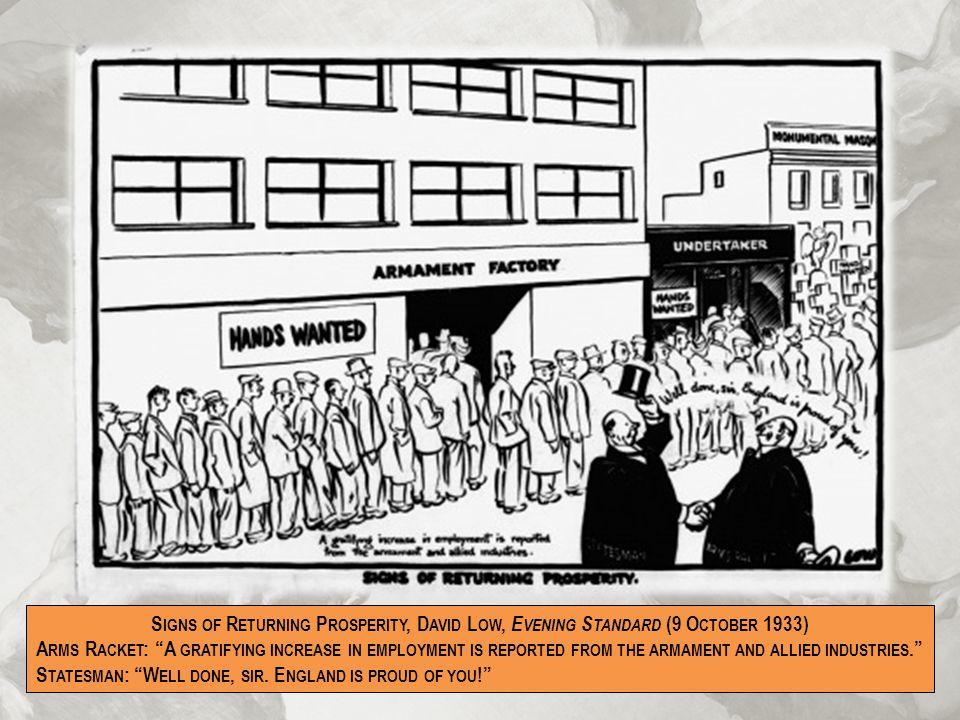 Signs of Returning Prosperity, David Low, Evening Standard (9 October 1933)
