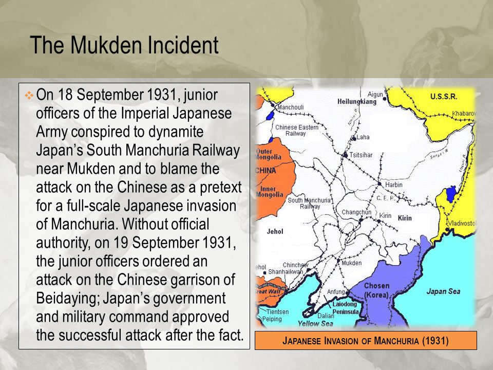 Japanese Invasion of Manchuria (1931)