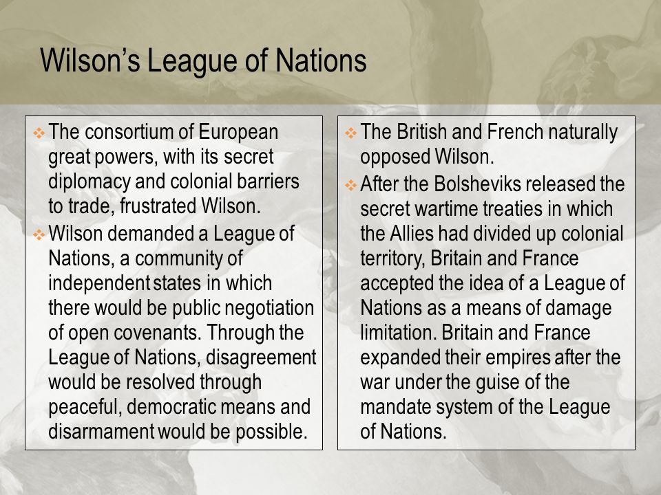 Wilson's League of Nations